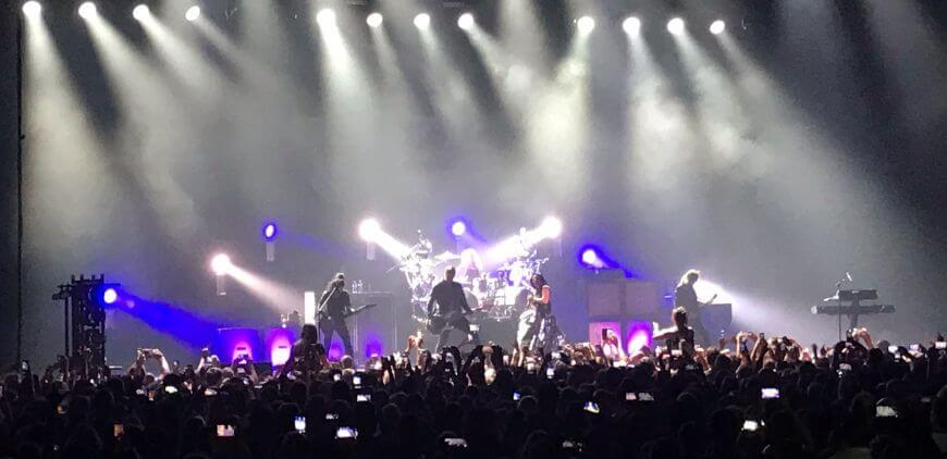 Fergeteges Evanescence koncert Budapesten